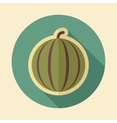 Watermelon retro flat icon with long shadow vector