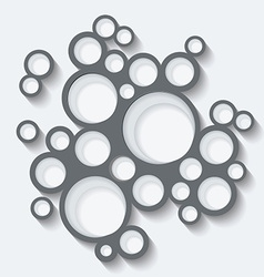Abstract infographics design with circles and vector image