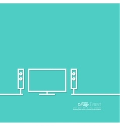 Abstract background with TV vector image