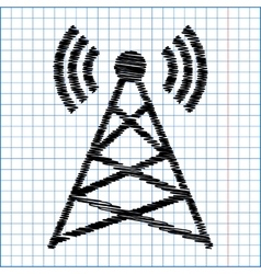 Antenna sign flat style icon vector