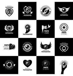 Logo for photographer vector