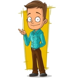 Cartoon office clerk in shirt and trousers vector