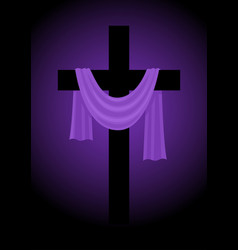 A cross with purple sash vector