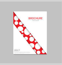 abstract business brochure vector image vector image