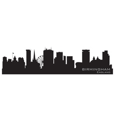 birmingham england skyline detailed silhouette vector image vector image