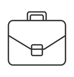 black and white suitcase graphic vector image