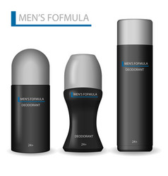 body care products for men realistic set of black vector image vector image