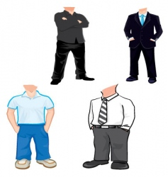 body templates vector image vector image
