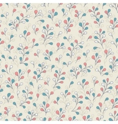 Botanical pattern with cute branches and leaves vector image