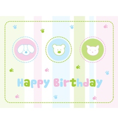Childrens birthday card vector