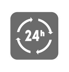 Customer service icon with 24 hours sign vector