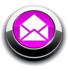 E-mail 3d round button vector