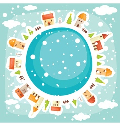 Earth background winter vector image vector image