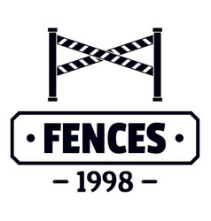 fence police logo simple black style vector image