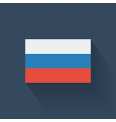 Flat flag of Russia vector image
