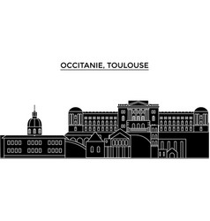 france occitanie toulouse architecture vector image vector image