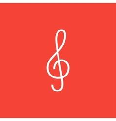 G-clef line icon vector
