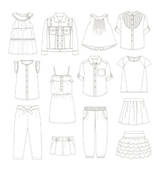 Girls clothes Sketches vector image