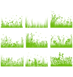 grass set nine vector image