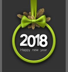 Green 2018 new year card vector