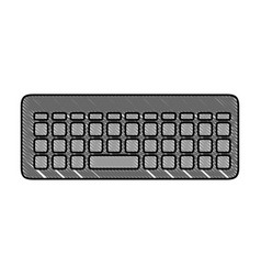 Keyboard icon image vector
