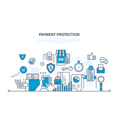 protection guarantee payment security finance vector image