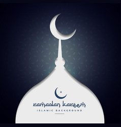 Ramadan festival greeting background vector