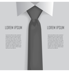 Shirt and tie business bacground vector image