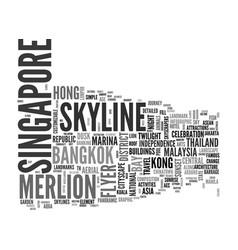 Singapore word cloud concept vector