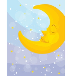 sleeping moon vector image vector image