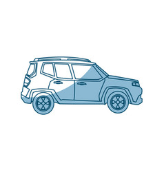suv car vehicle transport power speed - shadow vector image