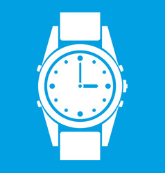 Swiss watch icon white vector