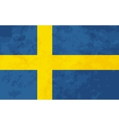 True proportions Sweden flag with texture vector image vector image