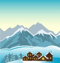 Village in mountain vector image vector image