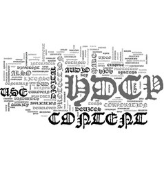 what is hdcp text word cloud concept vector image
