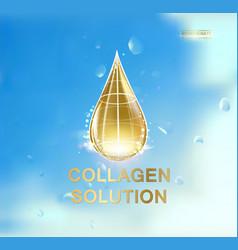 with oil drop vector image vector image