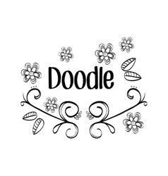 Flat about Doodle design vector image