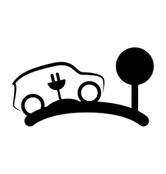 Eco car symbol isolated icon vector