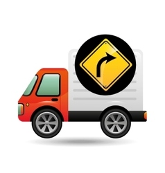 Right turn traffic sign concept vector