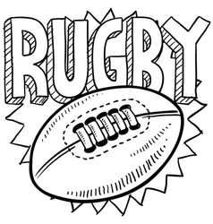 Rugby vector image