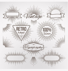 vintage burst shape decoration for typography vector image