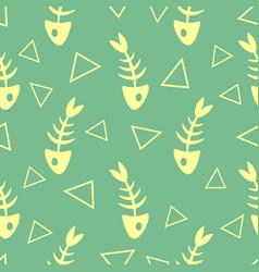 Fish bones seamless pattern vector