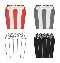 popcorn icon in cartoon style isolated on white vector image