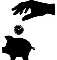 time is money vector image