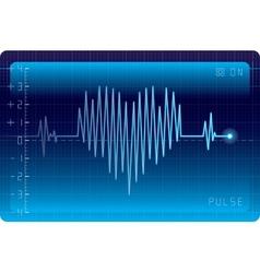 EKG heart vector image