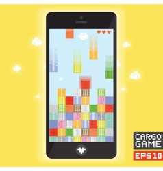 Cargo ship game vector