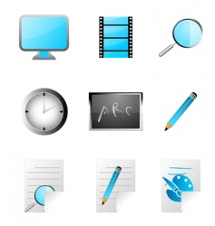 Study icons vector