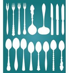 0000 retro cutlery vector image