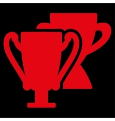 Trophy cups icon from competition  success vector