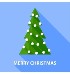 Background with christmas tree vector image